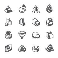 Mobico icons - 3D vector charts N2