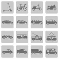 Vector Set of Ground Transportation Icons N8