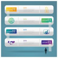 Infographic design template and marketing staircase icons