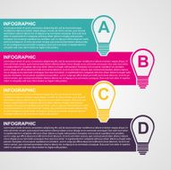 Infographic design style colorful light bulb