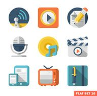 Media and Communication Flat icons N3