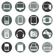 Vector Set of Digital Devices Icons N21