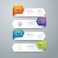 Infographic design template and marketing icons N86