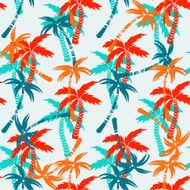 Seamless pattern with coconut palm trees N3