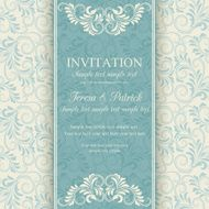 Baroque invitation blue and beige