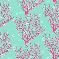 Colorful seamless pattern with corals