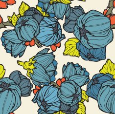 Seamless Pattern with floral ornament N4