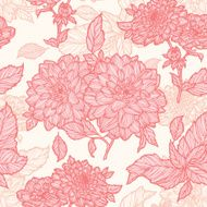 Seamless pattern with flowers peonies