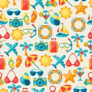 Travel and tourism seamless pattern N2