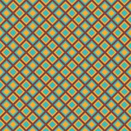 Bright retro seamless pattern with blue and yellow rhomb blocks N2