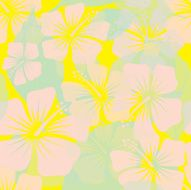 Seamless Soft Hibiscus Pattern