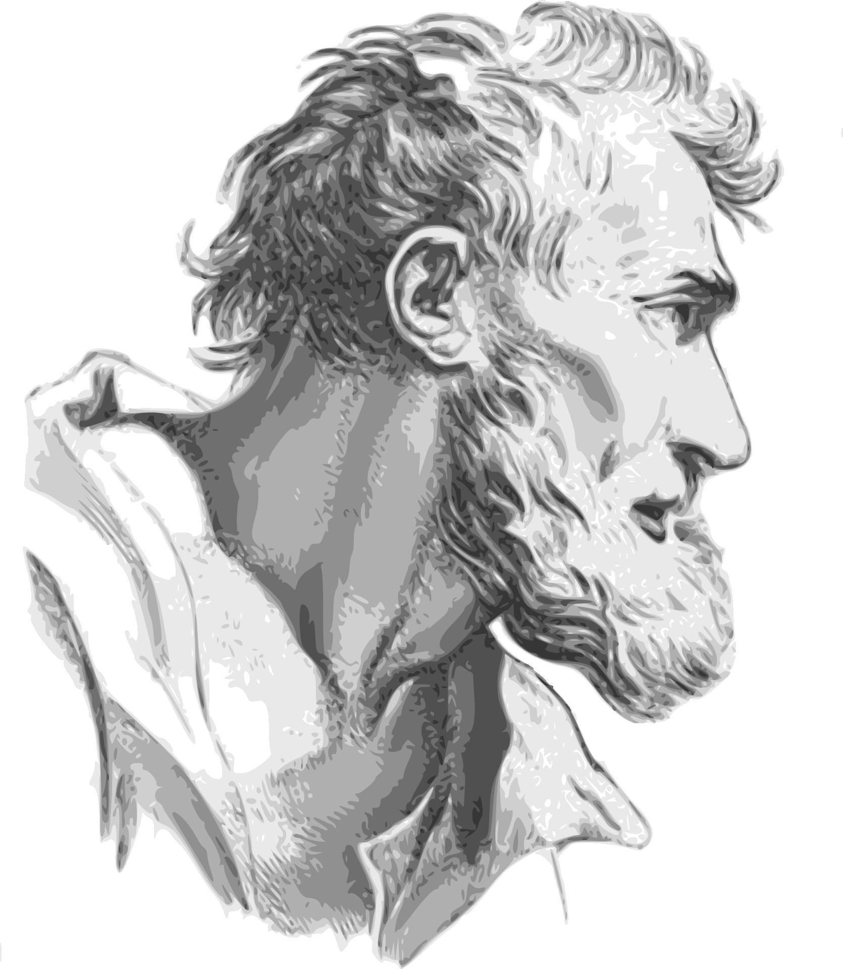 Bearded Man Drawing Pencil Free Image