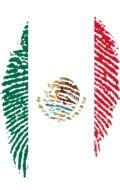 mexico flag on top of a fingerprint