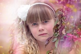 cute child girl female spring photo