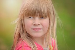 Blonde pretty girl child portrait