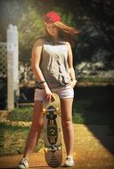 skateboard young girl lifestyle
