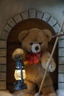 teddy bear with a lamp