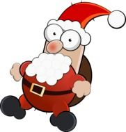 santa claus funny christmas drawing