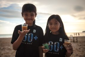 girls in t-shirts earth hour