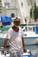old captain in port in north africa