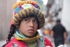 girl peruvian peru watch portrait