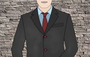 man in suit drawing