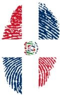 fingerprint with Dominican Republic flag