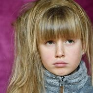 child with long hair