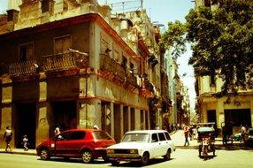 vintage cars on the street in Cuba