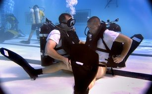 training scuba diving