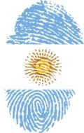 fingerprint with the image of the flag of Argentina