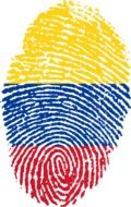 colombia flag fingerprint drawing
