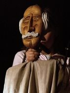 puppet wooden old man puppeteers