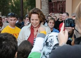 sigourney weave, actress among crowd of fans