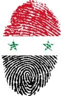 fingerprint with the image of the flag of Syria