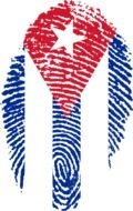 clipart of the cuba flag in the shape of the fingerprint
