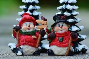 decorative christmas gifts snowmen