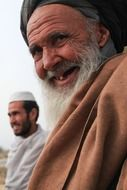 old afghan man in turban