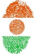 fingerprint with the image of the flag of Nigeria