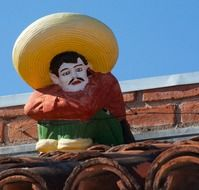 figurine of a mexican man in sombrero