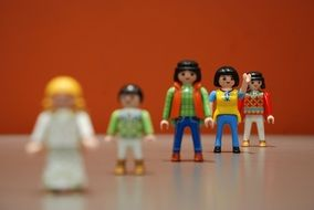 toys waving hands from constructor Playmobil
