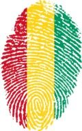 fingerprint with a guinean flag