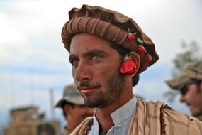 afghan man in traditional headdress