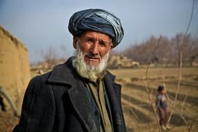 man old afghanistan person in turban