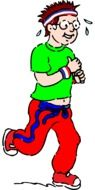graphic image of a funny tired runner