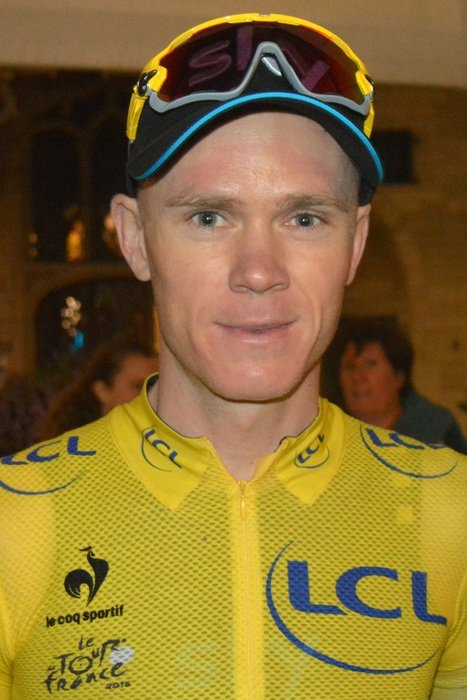 Portrait of chris froome in the form of a cyclist