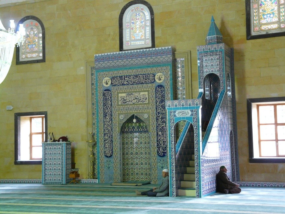 The wall of the prayer hall in the mosque