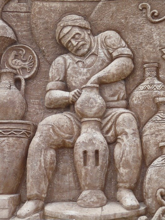 Relief of an artisan on the wall