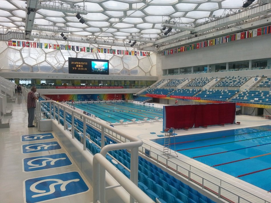 View of the Olympic pool