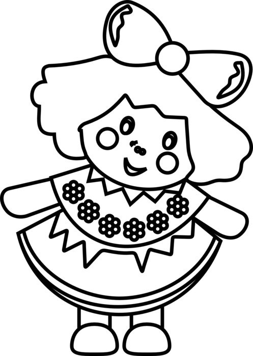 doll girl toy drawing